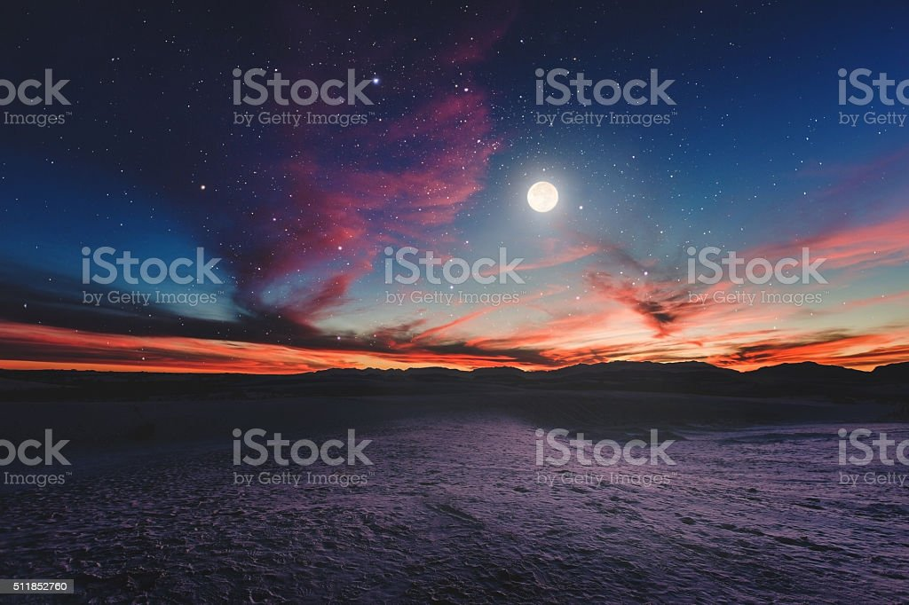 Moon gazing II stock photo