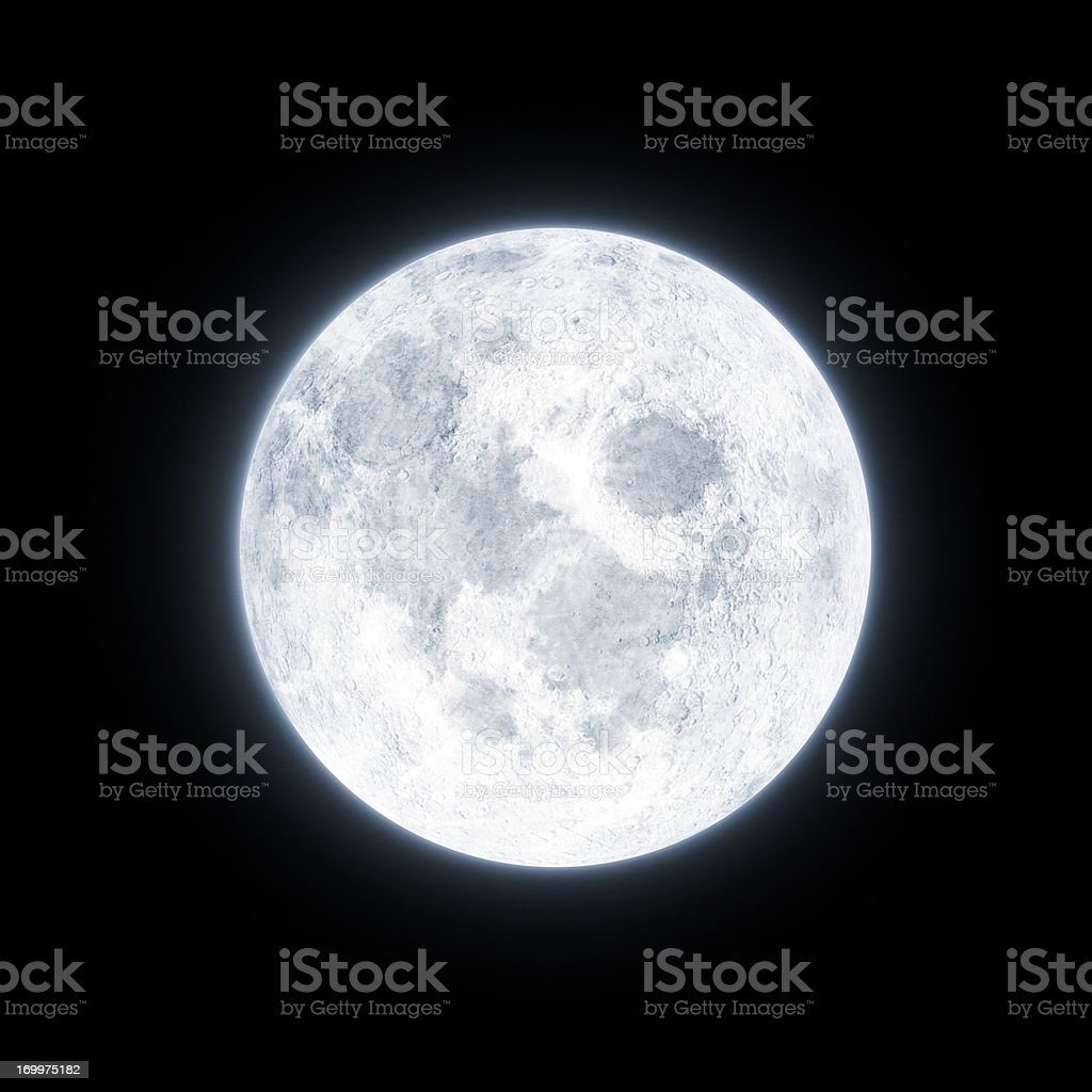 Moon Glowing stock photo