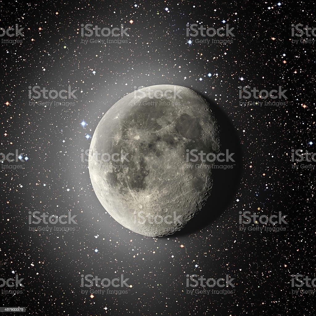 Moon Halo and Stars 49MP royalty-free stock photo