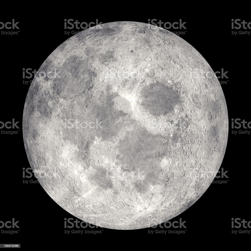 Moon High Resolution royalty-free stock photo