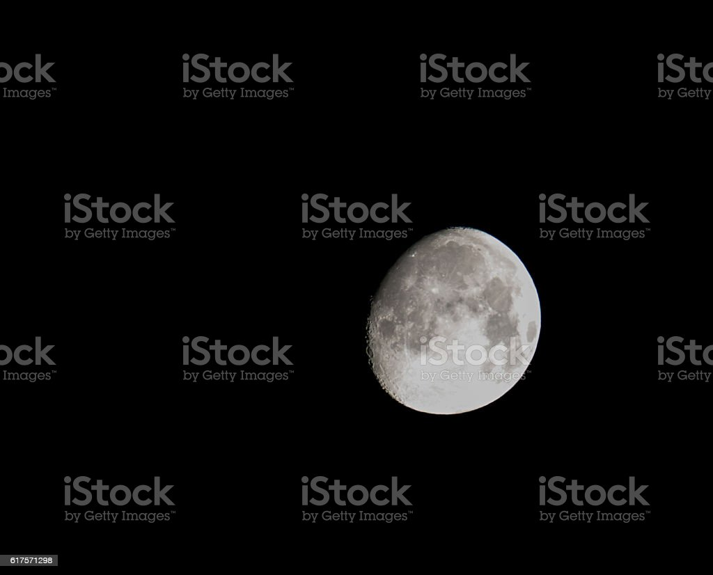 Moon in a Black Sky stock photo