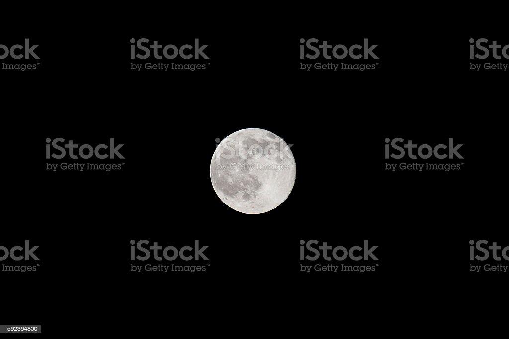 Moon in black sky stock photo