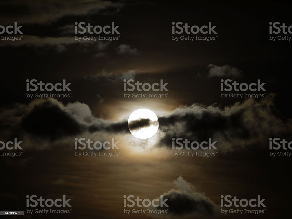 Moon in Cloud royalty-free stock photo