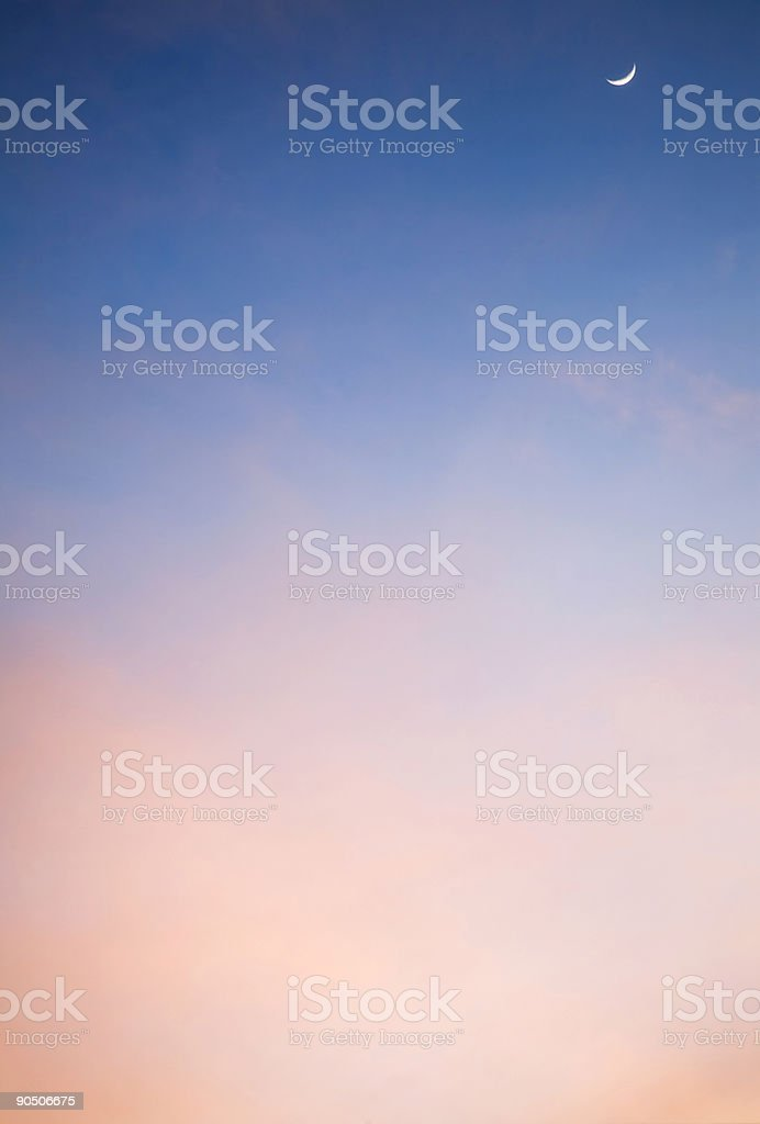 Moon In Cloudy Sky royalty-free stock photo