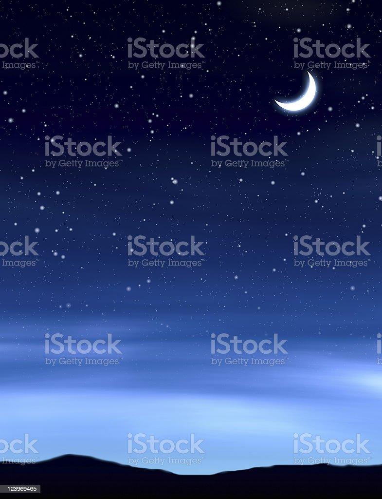 moon in night sky royalty-free stock photo