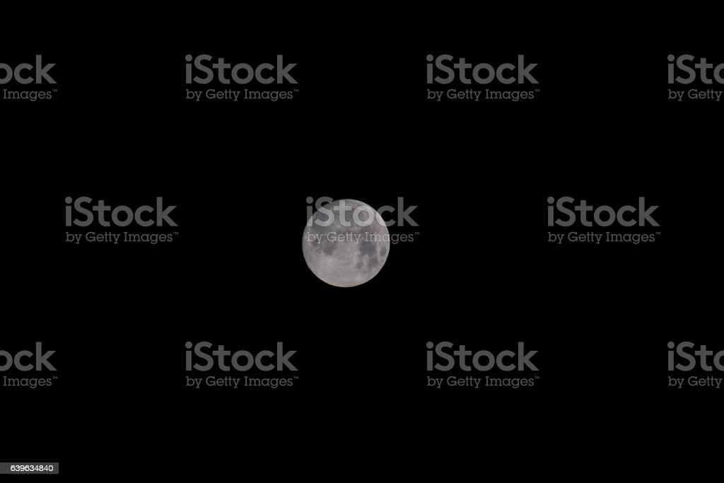 Moon in Night Sky stock photo
