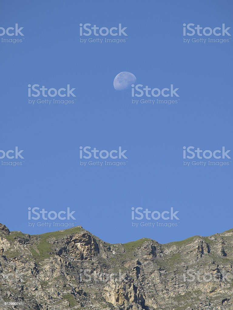 Moon in the blue Sky royalty-free stock photo