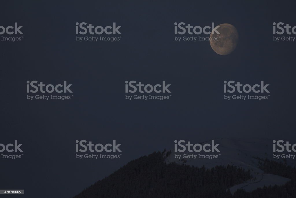Moon in the Morning stock photo