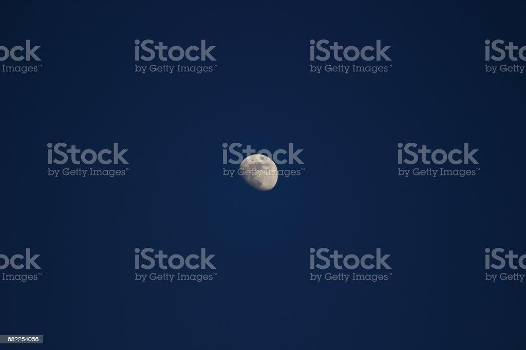 Moon in twilight stock photo