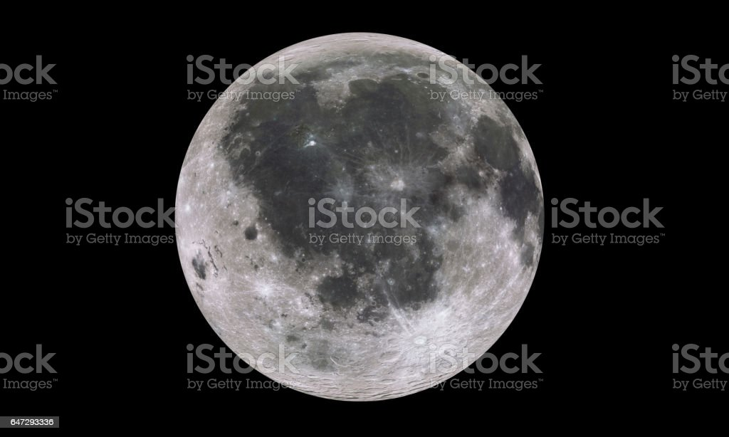 Moon isolated in black stock photo