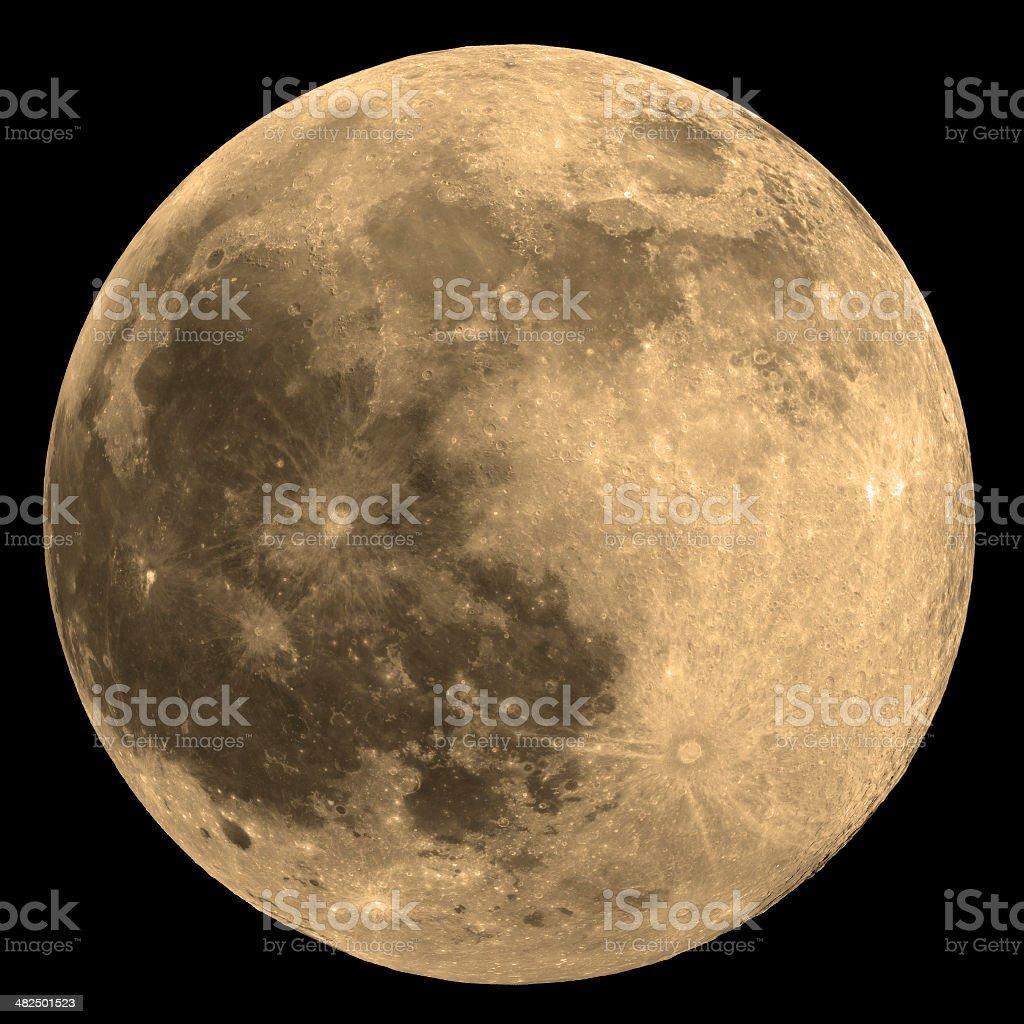 Moon - Isolated on Black stock photo