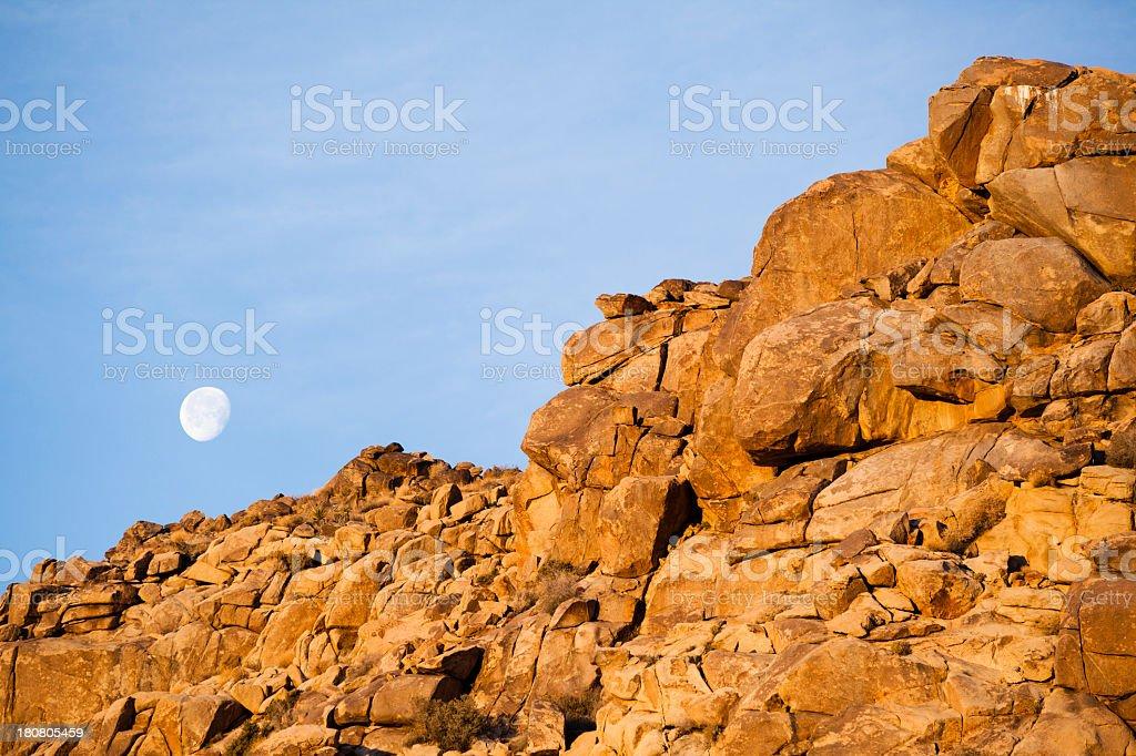 Moon. Joshua Tree national park royalty-free stock photo