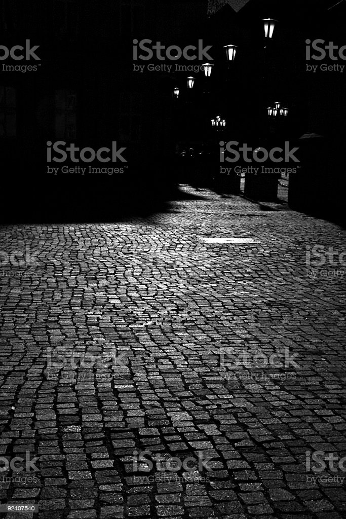 moon light street stock photo