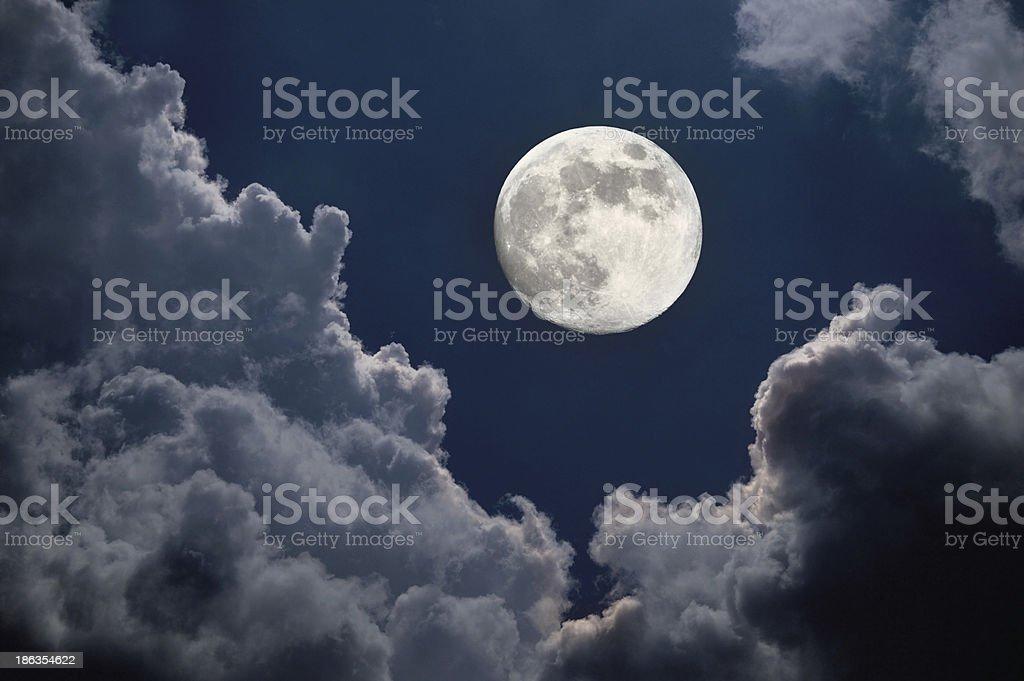 Moon night stock photo
