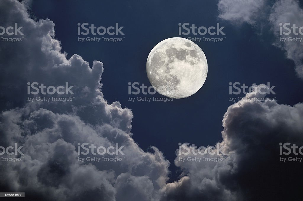 Moon night stock photo