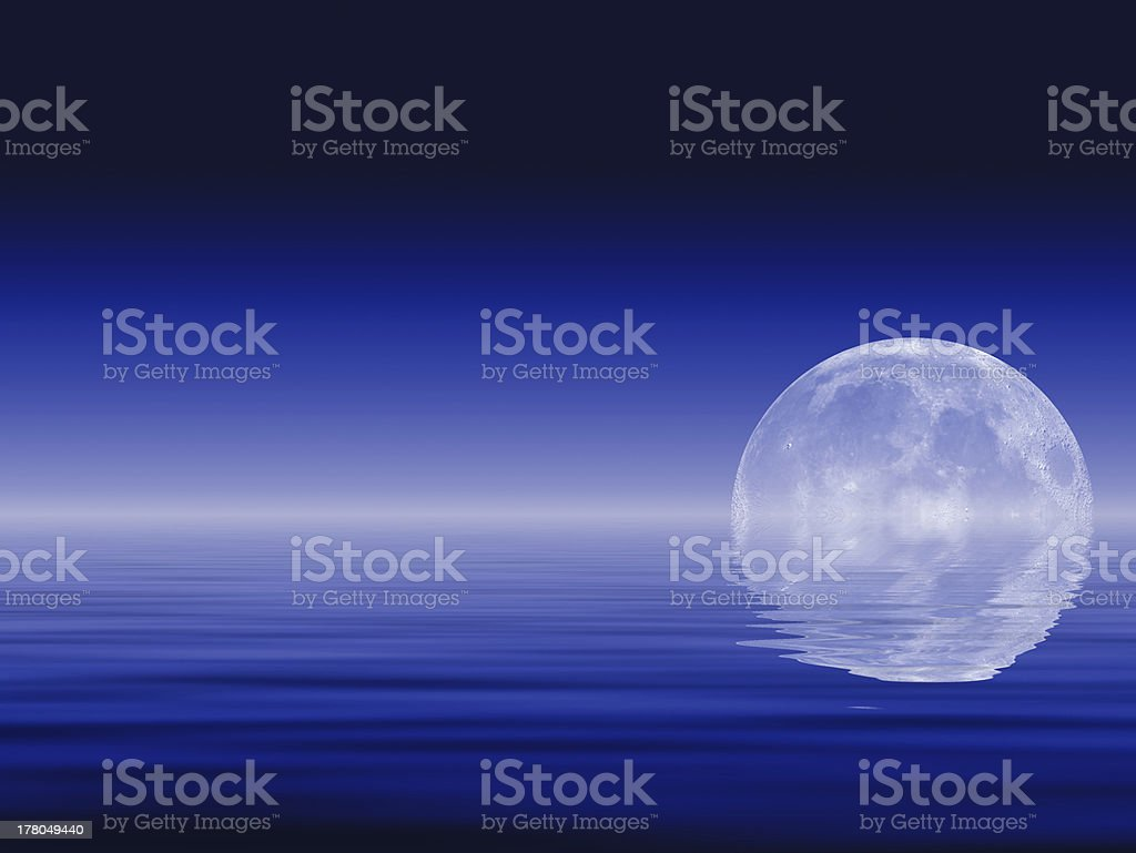 Moon & Oceans royalty-free stock photo