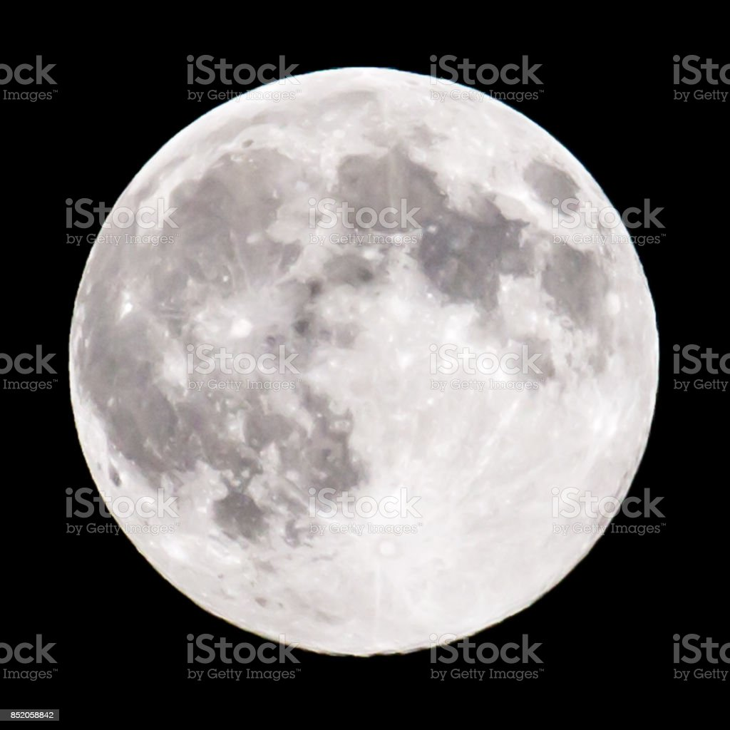 moon on a black background stock photo