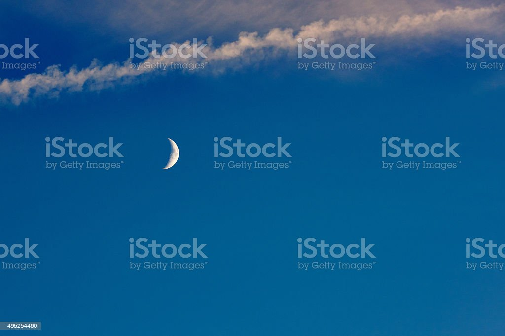 moon on the sky stock photo