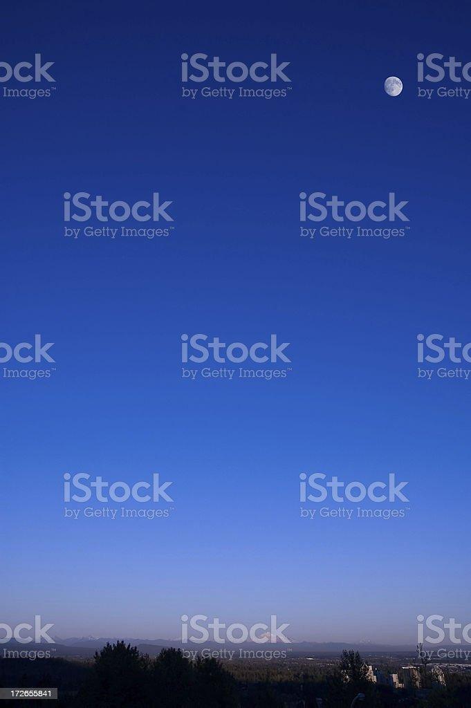 Moon Over Mountain royalty-free stock photo