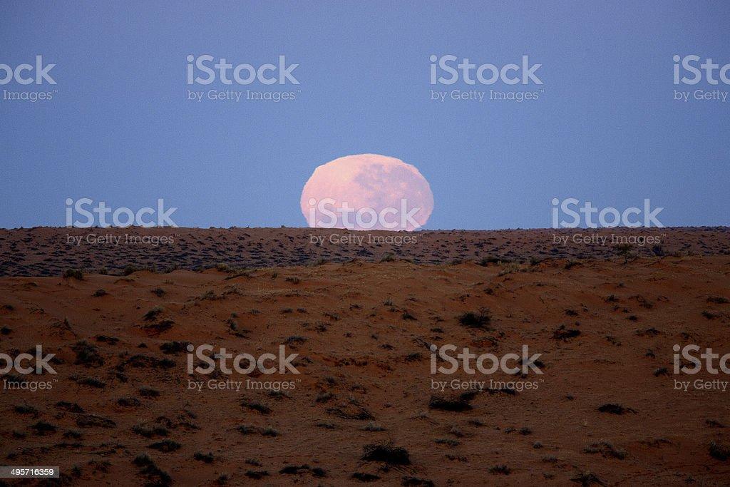 Moon over the Simpson Desert royalty-free stock photo