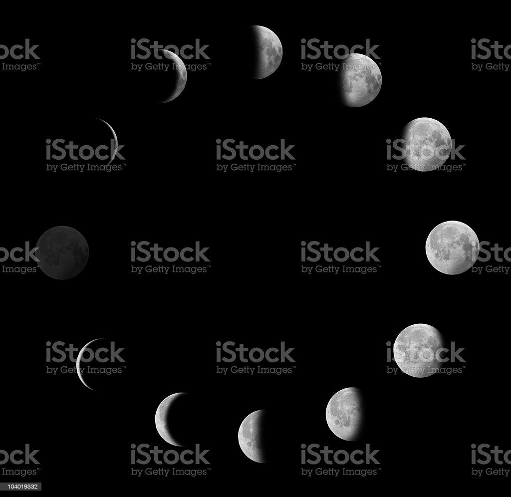Moon phases stock photo