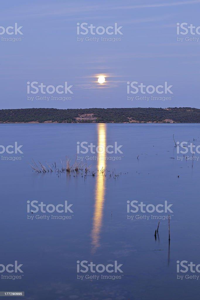 Moon reflection stock photo