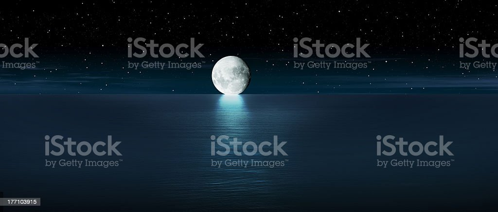 Moon rise royalty-free stock photo
