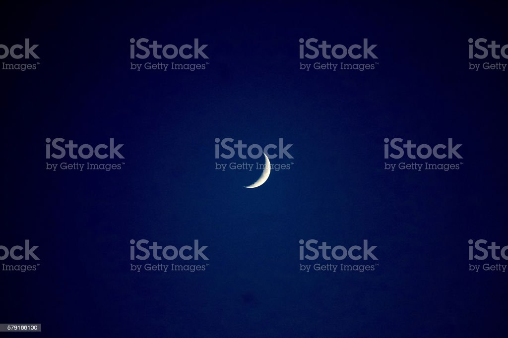 Moon Sliver stock photo