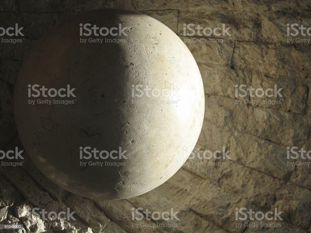 Moon Stone stock photo