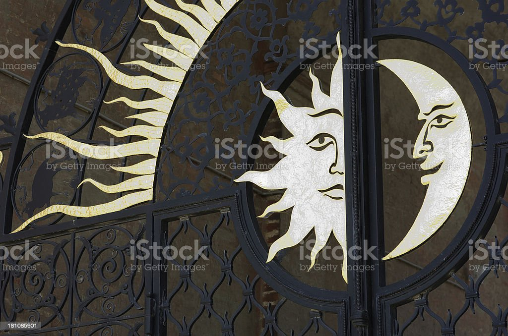 Moon sun royalty-free stock photo