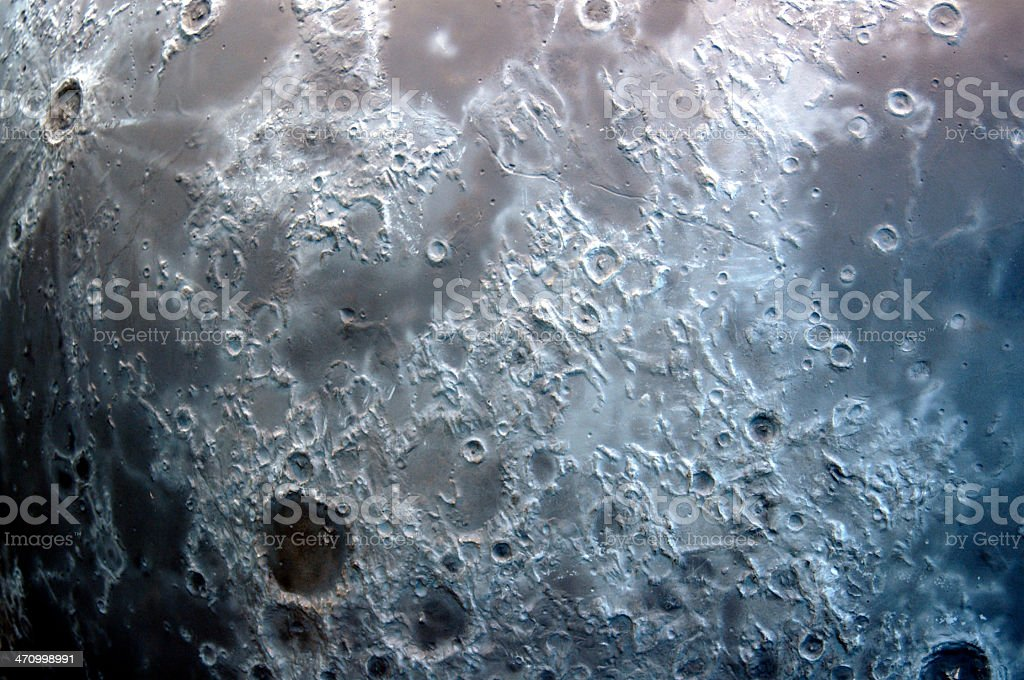 Moon surface abstract stock photo