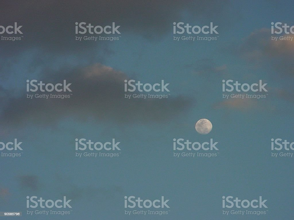 Moon through Clouds royalty-free stock photo