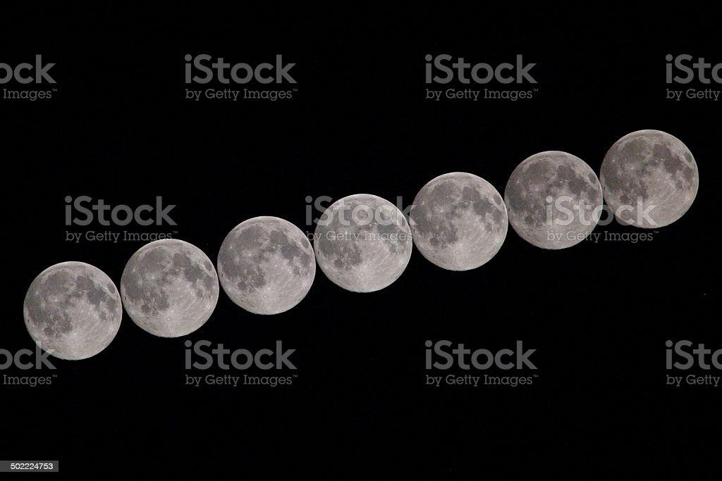 Luna trail foto stock royalty-free
