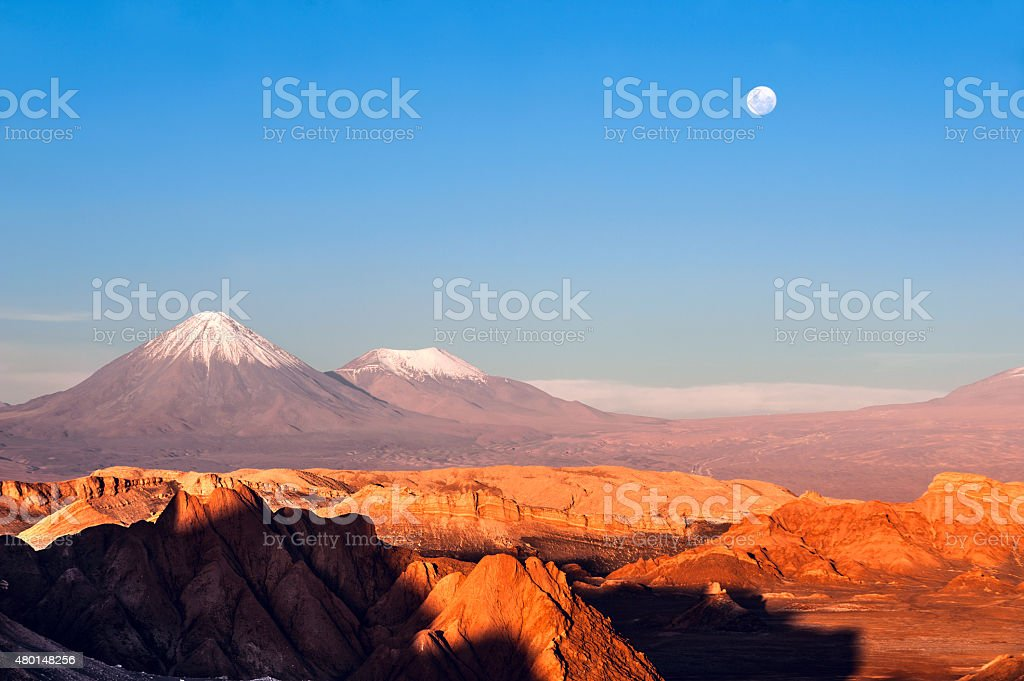Moon Valley, Atacama, Chile stock photo