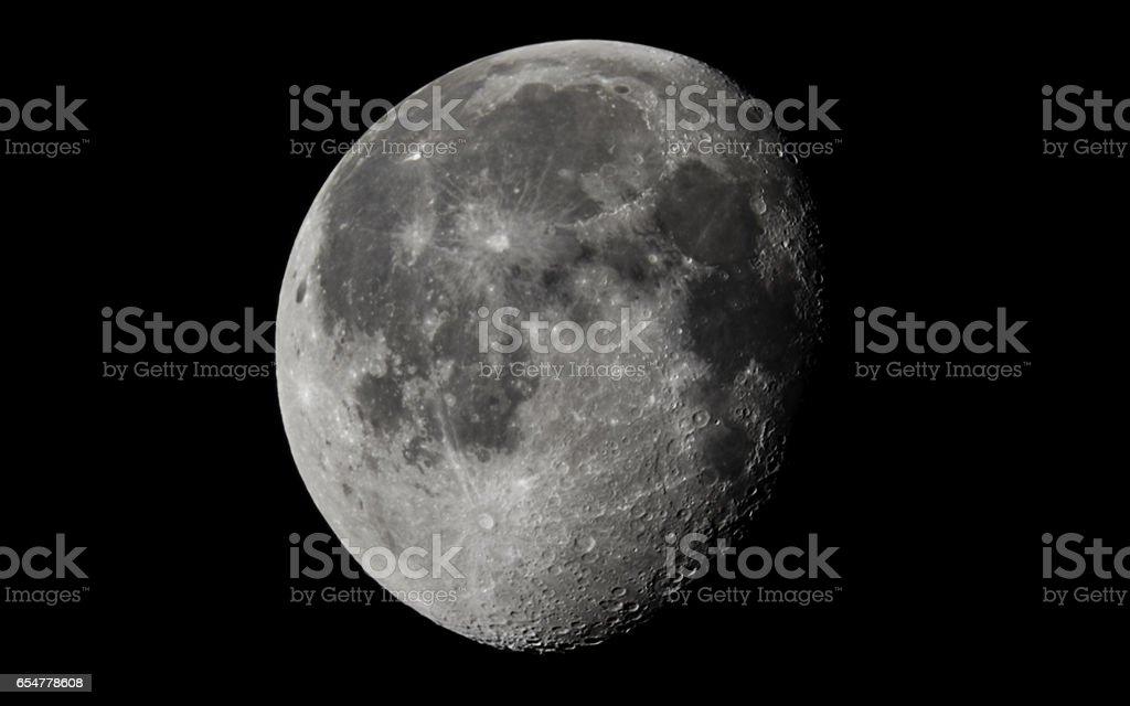 Moon Waning Gibbous stock photo