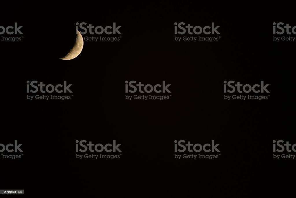 Moon waxing crescent stock photo