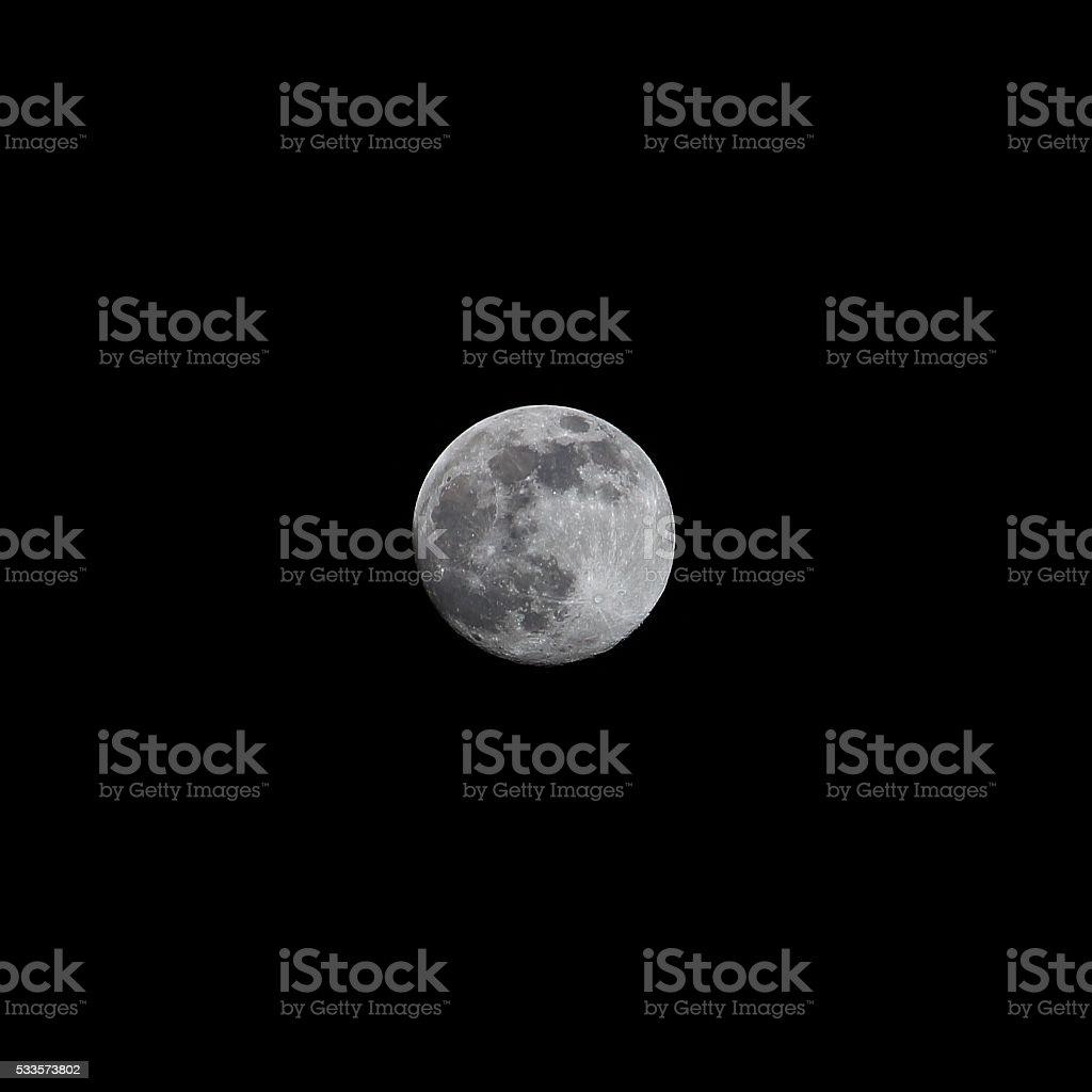 Moon waxing gibbous 2016 stock photo