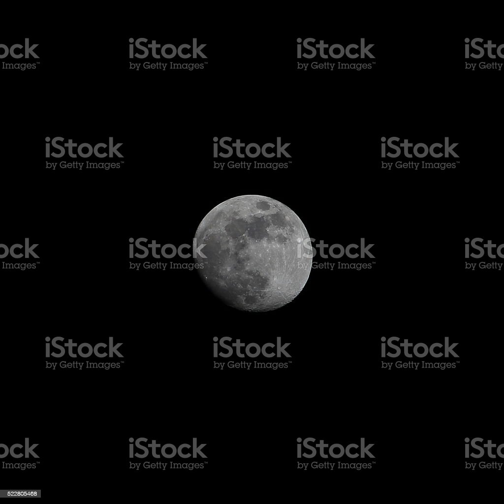 Moon waxing gibbous spring stock photo