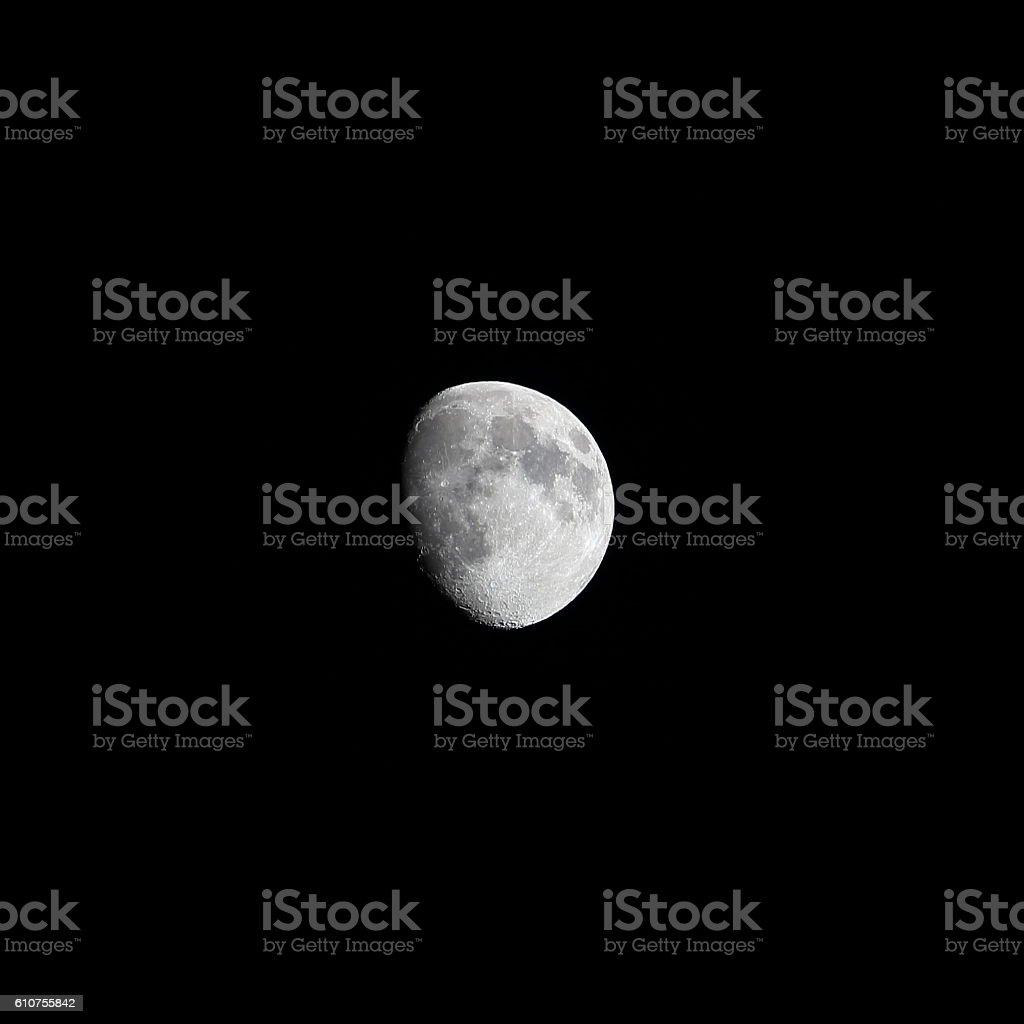 Moon waxing gibbous summer 2016 stock photo