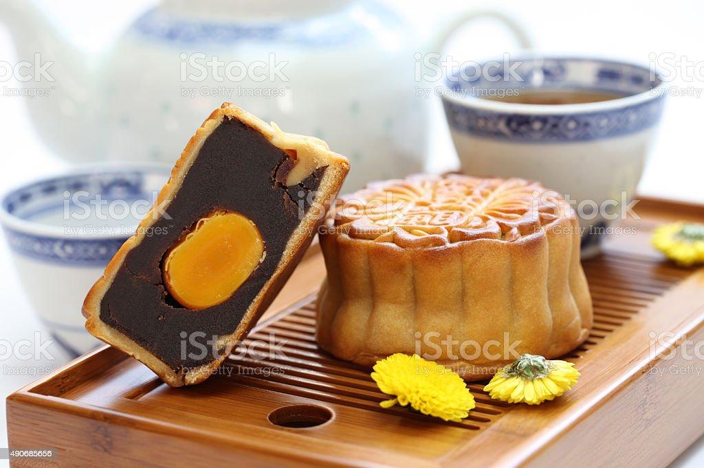 mooncake, moon cake stock photo