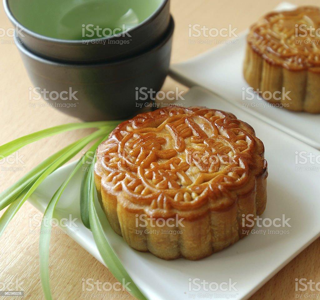 Mooncake stock photo
