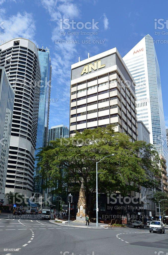 Mooney Memorial Fountain in Brisbane CBD stock photo