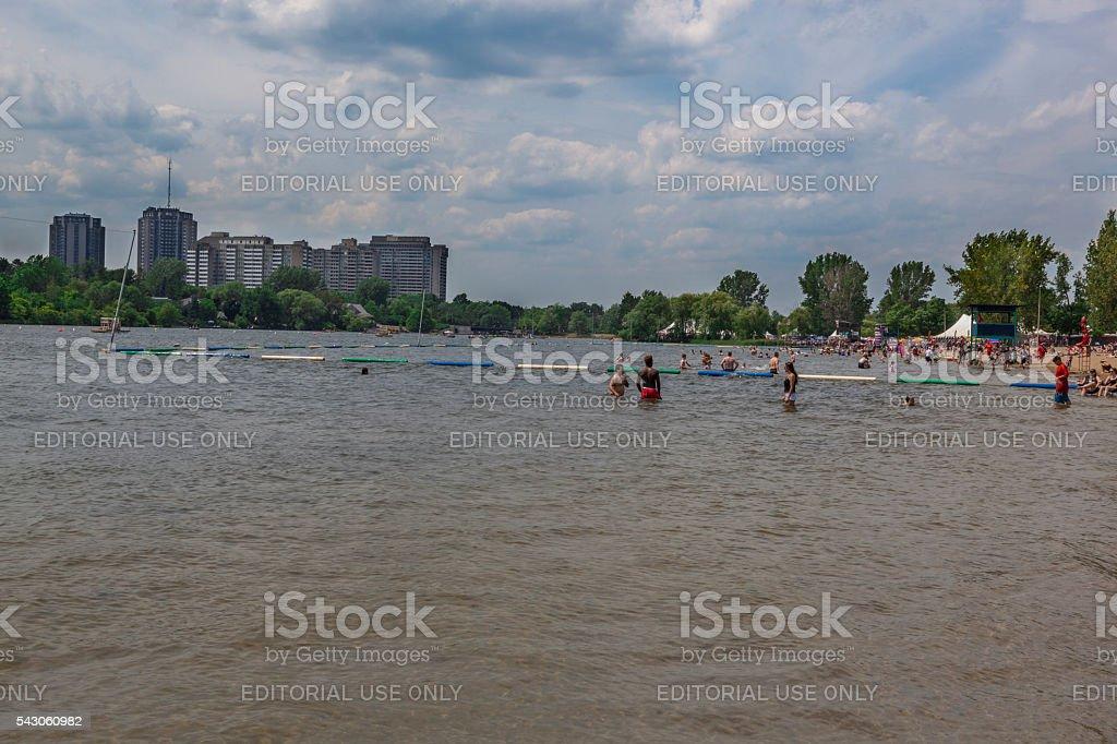 Mooney's Bay Beach Ottawa stock photo