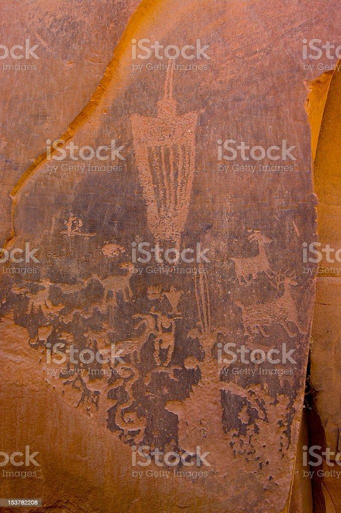 Moonflower Petroglyphs royalty-free stock photo