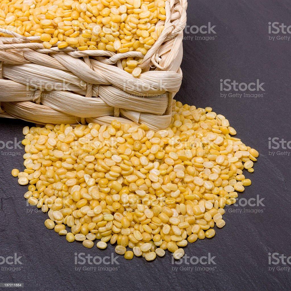 Moong Daal lentils stock photo