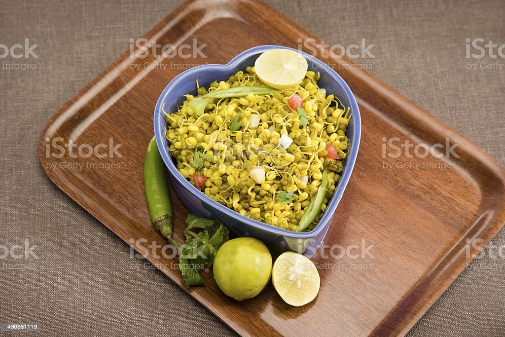 Moong Daal Sprouts Chaat stock photo