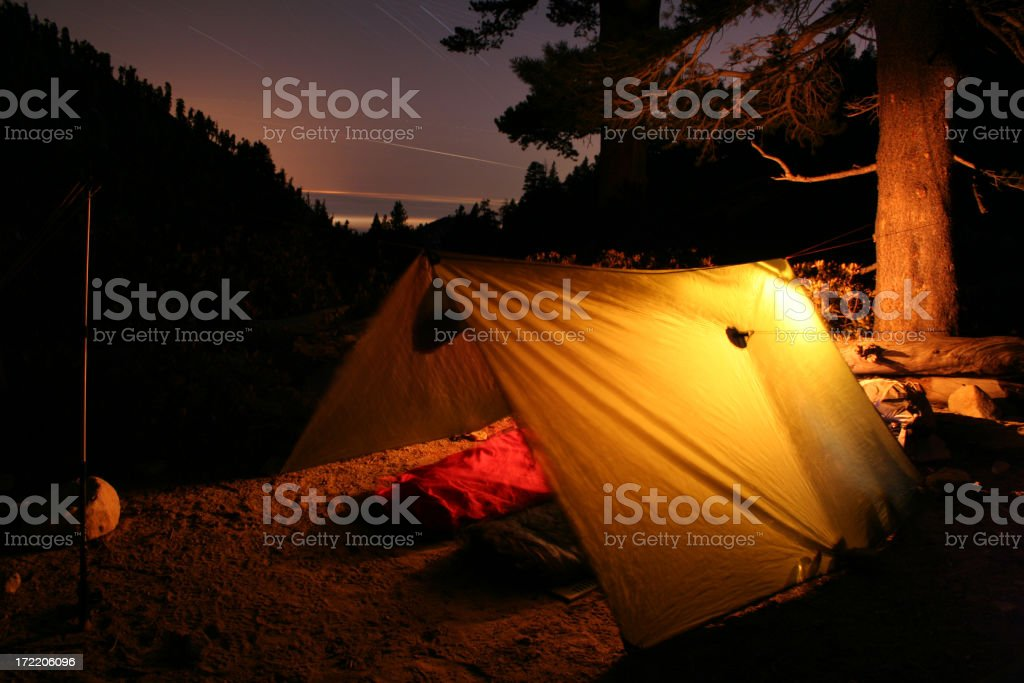 moonless camp stock photo