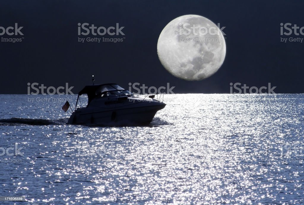 Moonlight Cruise royalty-free stock photo