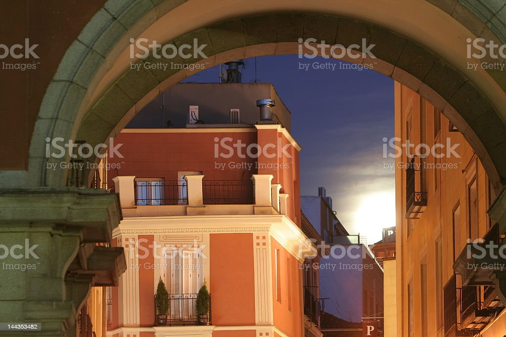 Moonlight in Madrid royalty-free stock photo