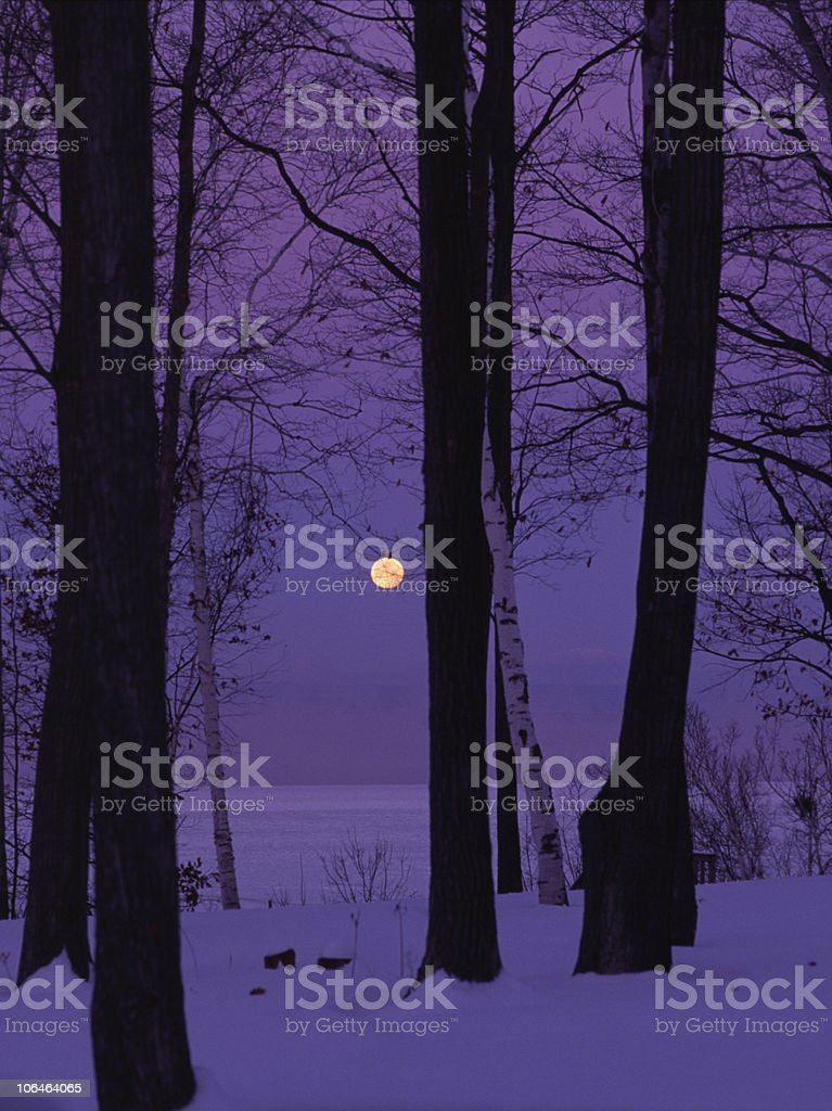 Moonlight in Vermont stock photo